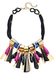 "Collana ""Colour flash"", bpc bonprix collection, Nero / bluette / fucsia"