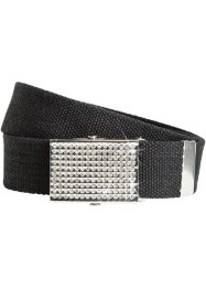 Cintura con fibbia di strass, bpc bonprix collection, Nero