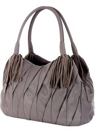 Borsa con pieghe, bpc bonprix collection, Grigio