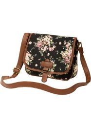 "Borsa a tracolla ""Flower"", bpc bonprix collection, Nero a fiori"