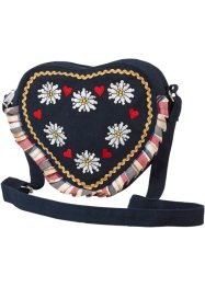 "Borsa ""Cuore"", bpc bonprix collection, Blu scuro / multicolore"