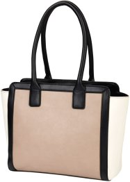 Borsa tricolore, bpc bonprix collection, Nero / bianco / color nudo