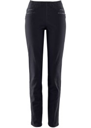 Jeggings con cerniere, bpc bonprix collection, Nero