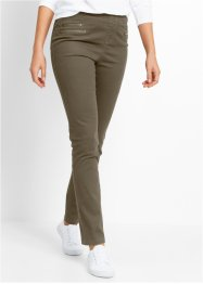 Jeggings con cerniere, bpc bonprix collection, Verde oliva scuro