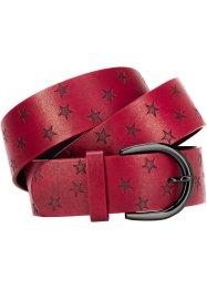"Cintura ""Stelle"", bpc bonprix collection, Rosso scuro"