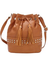 Borsa a sacchetto, bpc bonprix collection, Cognac