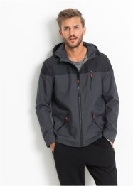 Giacca di softshell regular fit, RAINBOW, Grigio melange / nero