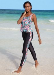 Top per tankini, bpc bonprix collection, Nero fantasia