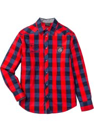 Camicia a quadri regular fit, bpc selection, Rosso / blu scuro a quadri
