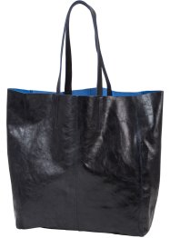 Borsa shopper in pelle lucida, bpc bonprix collection