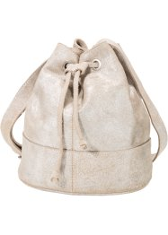 Borsa a sacchetto in pelle metallizzata, bpc bonprix collection