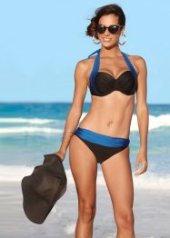 Bikini con ferretto, bpc selection, Nero / blu