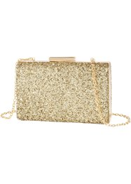 Borsetta box glitterata, bpc bonprix collection, Oro