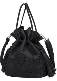 "Borsa a sacchetto ""Trafori"", bpc bonprix collection, Nero"