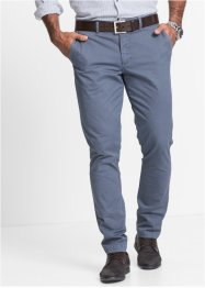 Pantalone chino in microfantasia slim fit, bpc selection, Blu fantasia
