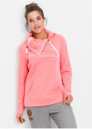 Giacca in felpa a manica lunga, bpc bonprix collection, Rosa neon