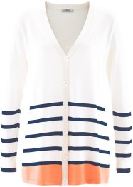 Cardigan, bpc bonprix collection, Bianco panna a righe