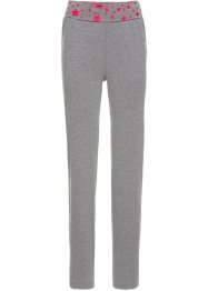 Pantalone in maglina per wellness, bpc bonprix collection, Grigio melange