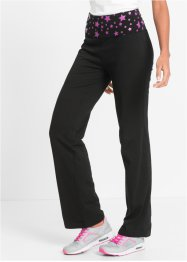 Pantalone in maglina per wellness, bpc bonprix collection, Nero