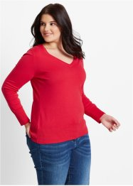 Pullover, bpc bonprix collection, Rosso