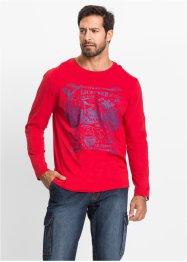 Maglia a manica lunga regular fit, John Baner JEANSWEAR, Rosso