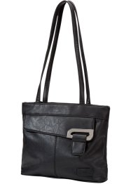 Borsa a tracolla con elementi di metallo, bpc bonprix collection, Nero