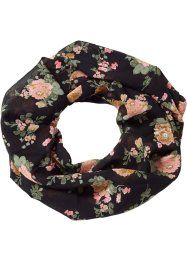 "Sciarpina ad anello ""Fiori"", bpc bonprix collection, Nero"