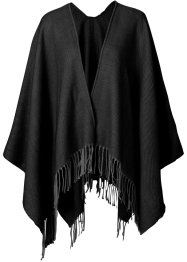 Poncho in tinta unita, bpc bonprix collection, Nero