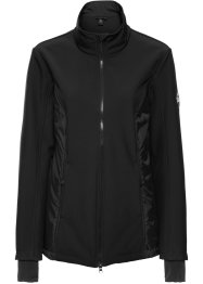 Giacca in softshell 2 in 1 con gilet, bpc bonprix collection, Nero