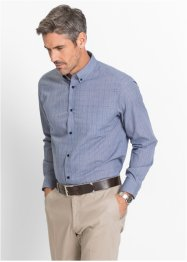 Camicia business principe di Galles regular fit, bpc selection, Blu / bianco fantasia