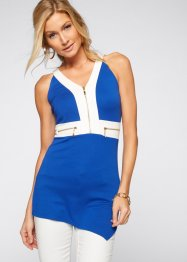 Top con cerniere, BODYFLIRT boutique, Blu scuro / bianco