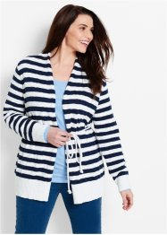Cardigan, bpc bonprix collection, Bianco / blu scuro a righe