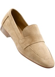 Mocassino in pelle, bpc selection, Beige chiaro
