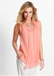 Top con chiffon, bpc selection, Rosa salmone