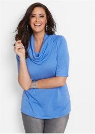 Pullover con collo a ciambella, bpc selection, Blu medio