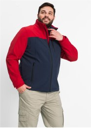 Giacca di softshell regular fit, bpc selection, Blu scuro / rosso