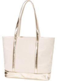 Borsa shopper con dettagli dorati, bpc bonprix collection