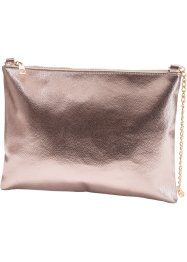 Borsa a tracolla metallizzata, bpc bonprix collection, Marroncino metalizzato