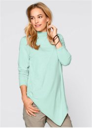 Maglia a collo alto, bpc bonprix collection, Menta pastello melange