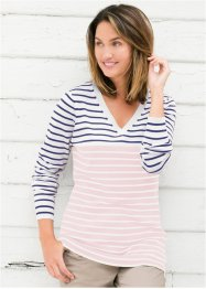 Pullover, bpc bonprix collection, Bianco panna / rosa perlato a righe