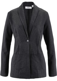 Blazer lungo, bpc bonprix collection, Nero