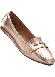 Mocassino, BODYFLIRT, Color oro rosa metallizzato