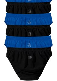 Slip (pacco da 6), bpc bonprix collection, Nero / bluette