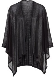 Poncho leggero in tinta unita, bpc bonprix collection, Nero
