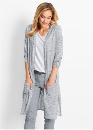 Cardigan lungo, bpc bonprix collection, Indaco melange