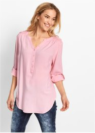 Blusa a manica lunga, bpc bonprix collection, Rosa cipria