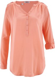 Blusa a manica lunga, bpc bonprix collection, Rosa salmone