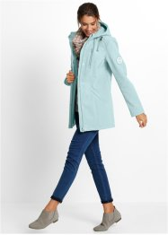 Parka in softshell, bpc bonprix collection, Menta pastello