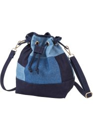 Borsa a sacchetto in denim patchwork, bpc bonprix collection