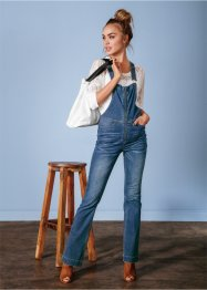 Salopette di jeans bootcut, RAINBOW, Raw denim